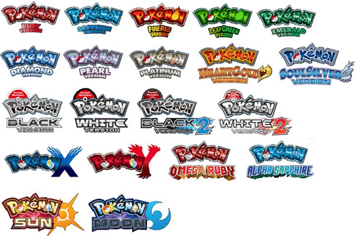 Heros Memes Main Series Logos Touched Up Gen 3 Gen7 Pokemon Logo Hero Pokemon