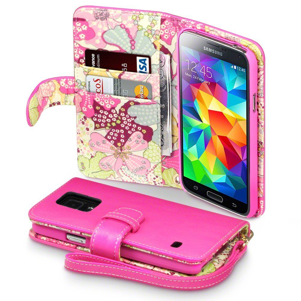reputable site 4cb5f 005f7 Amazon.com: Samsung Galaxy S5 Case, Terrapin [Pink] [Lily Floral ...