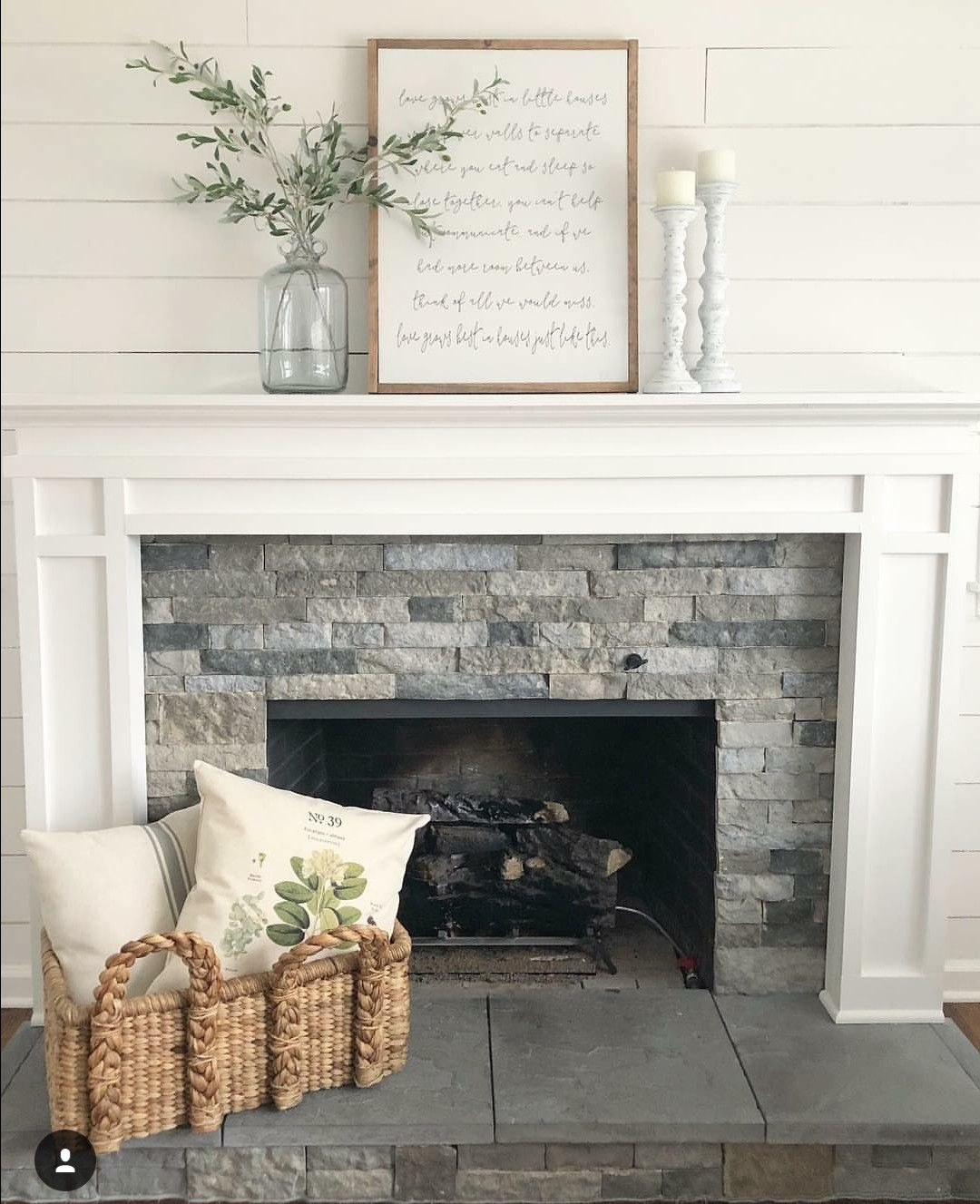 23 rustic decor fireplace