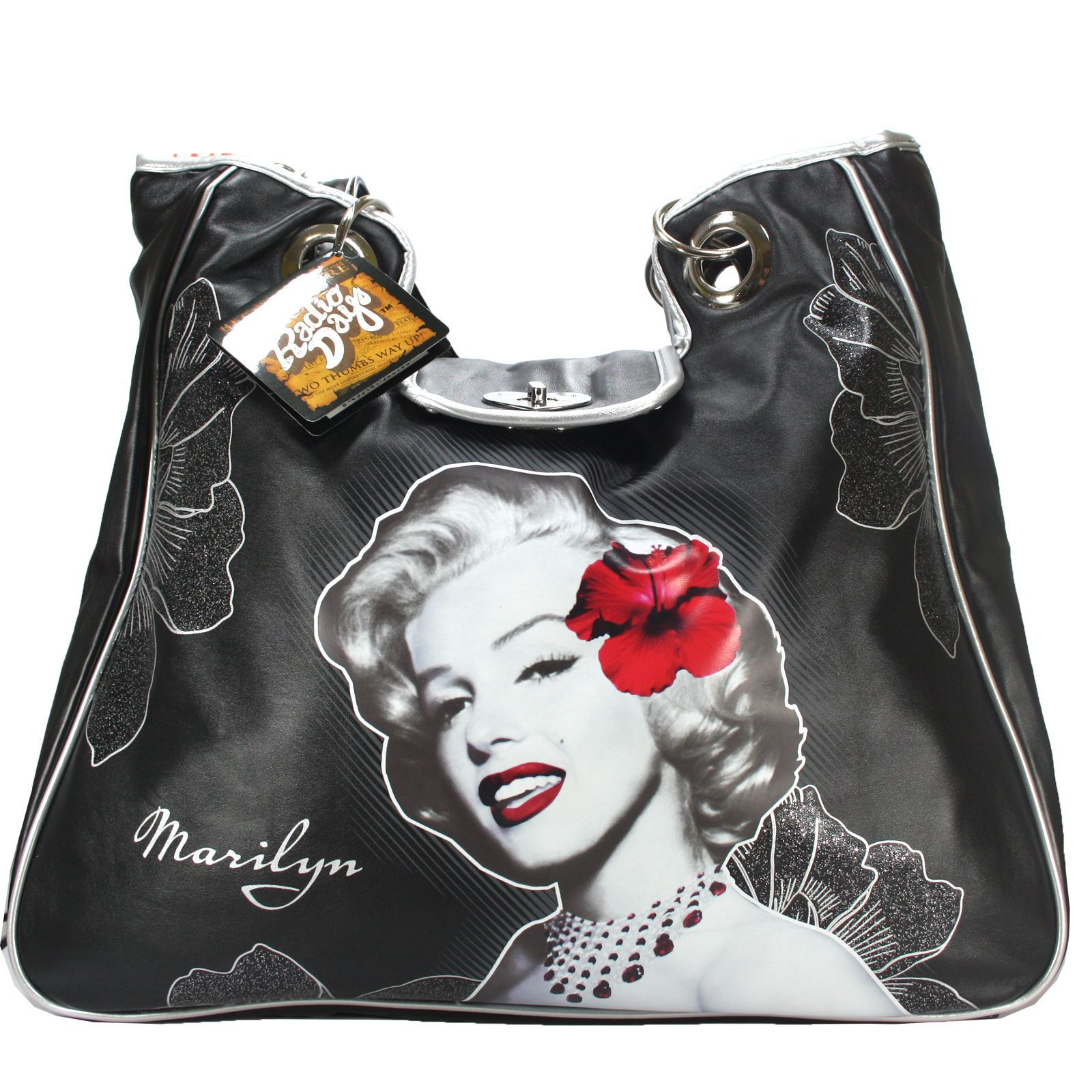 Borsa da donna marilyn monroe radio days nera celebrity vintage ...