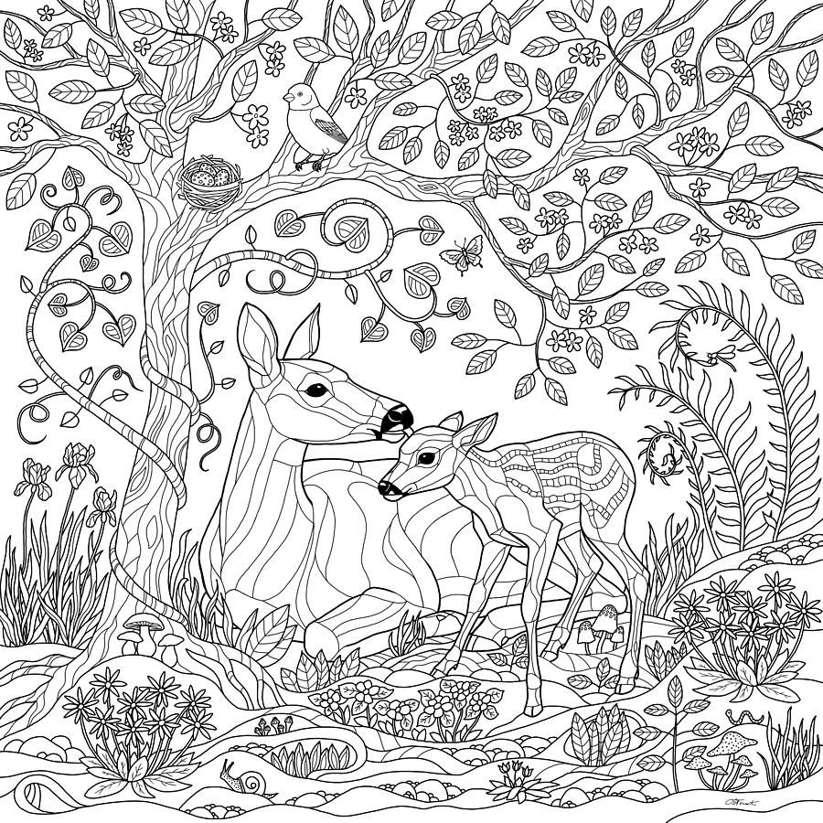 forest coloring pages - photo#8