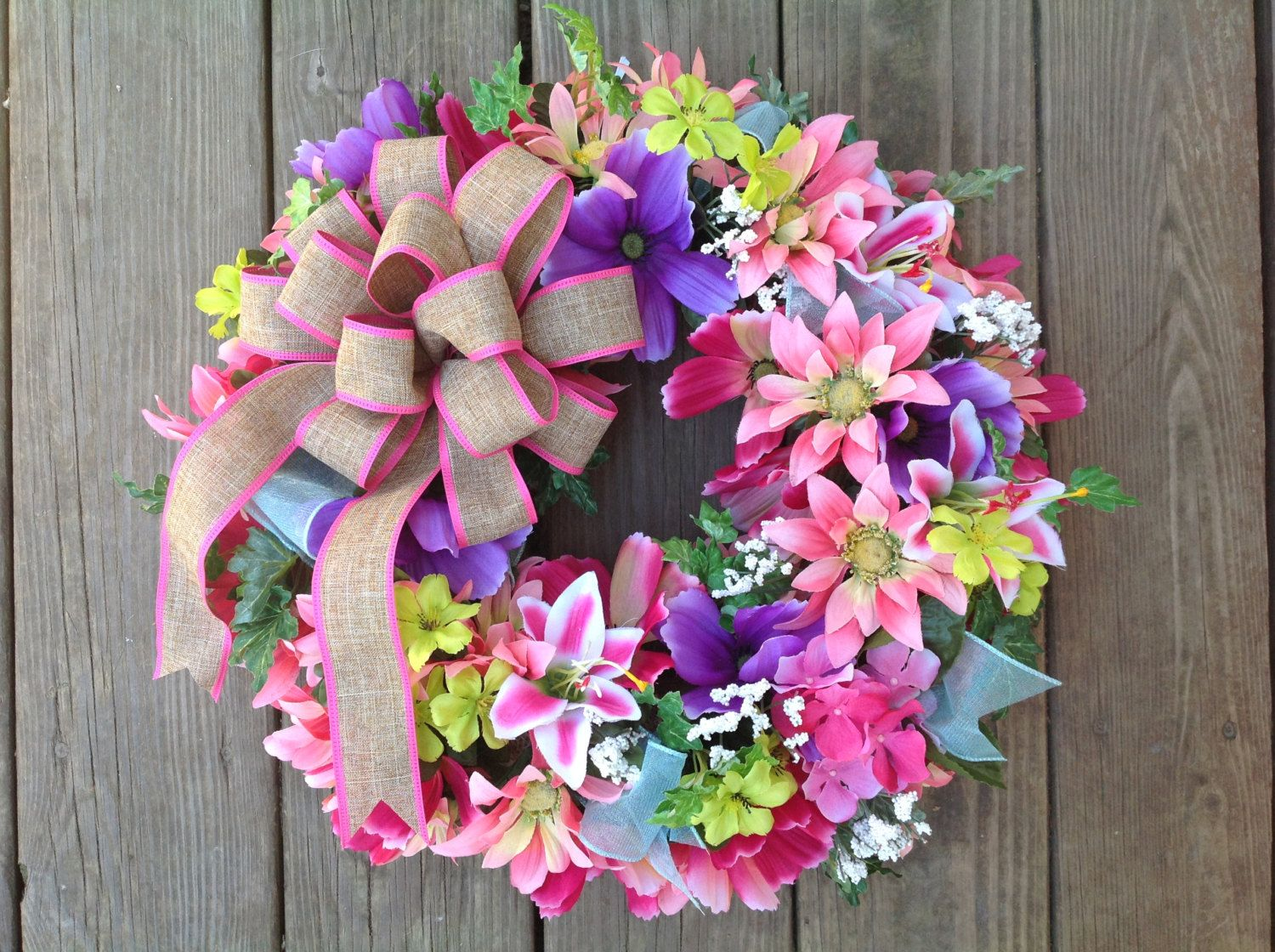 Easter wreath spring wreath mothers day wreath silk flower easter wreath spring wreath mothers day wreath silk flower wreath spring door negle Choice Image