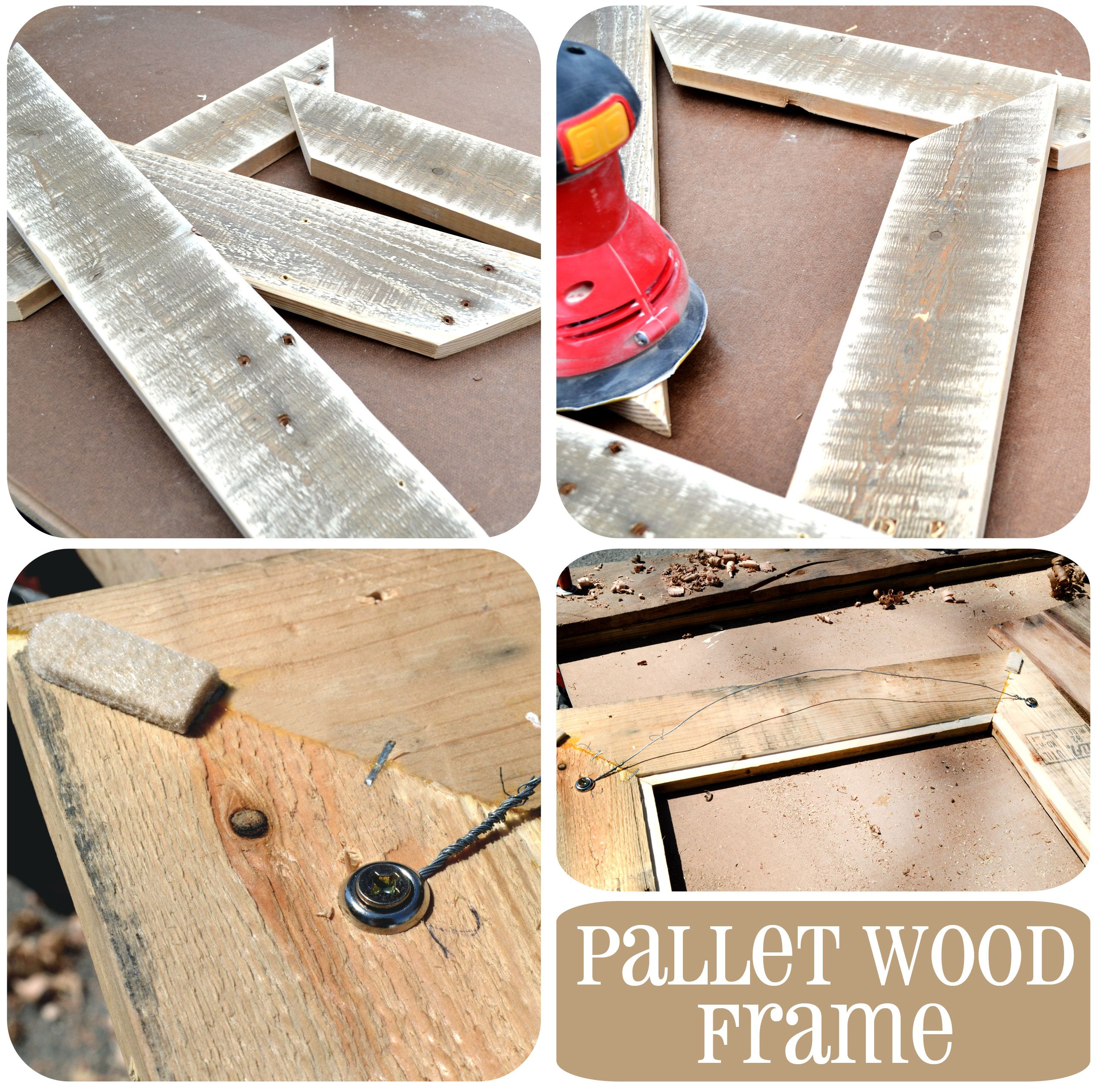 Pallet wood frame creative ideas pinterest pallet wood pallet wood frame jeuxipadfo Gallery