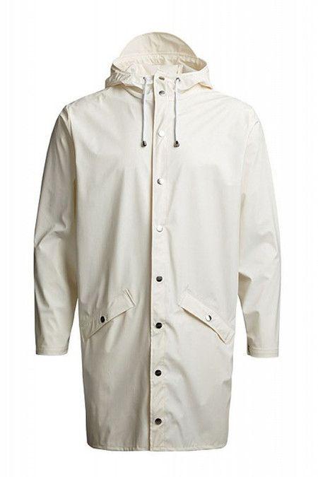 d92ccc403 Unisex Rains White Hooded Rain Coat | Men's outerwear | Mens ...
