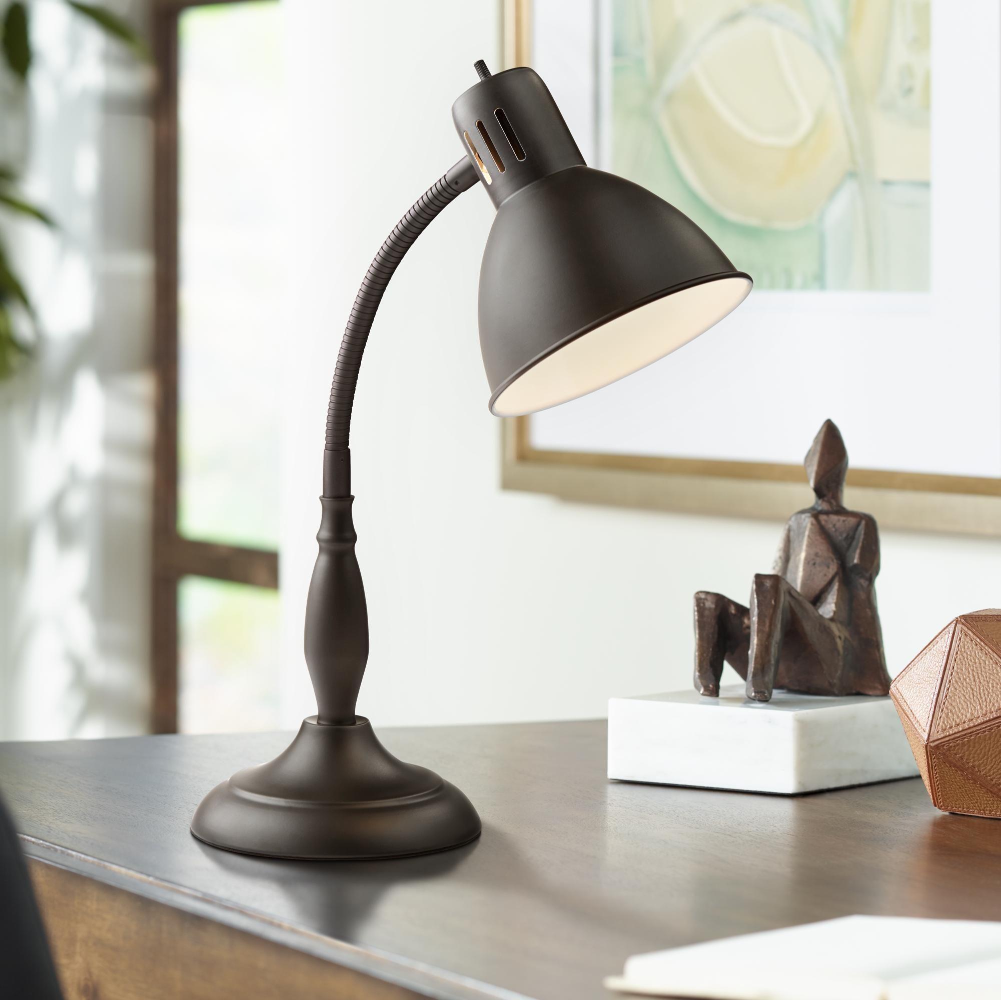 Breck Dark Bronze Gooseneck Desk Lamp in 2020 (With images