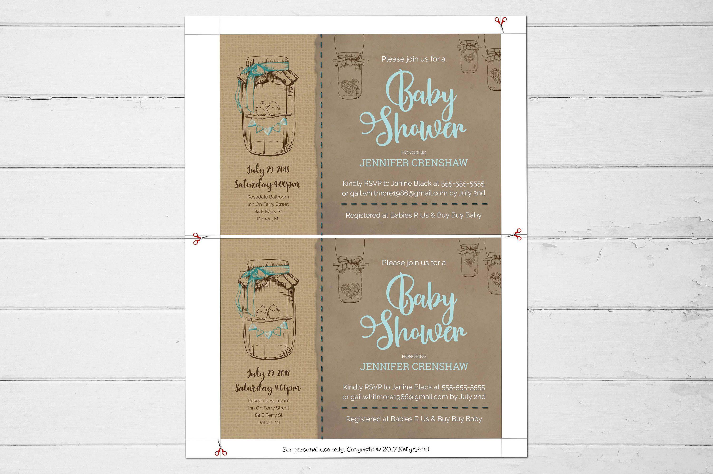 mason jar bridal shower invitations - Picture Ideas References