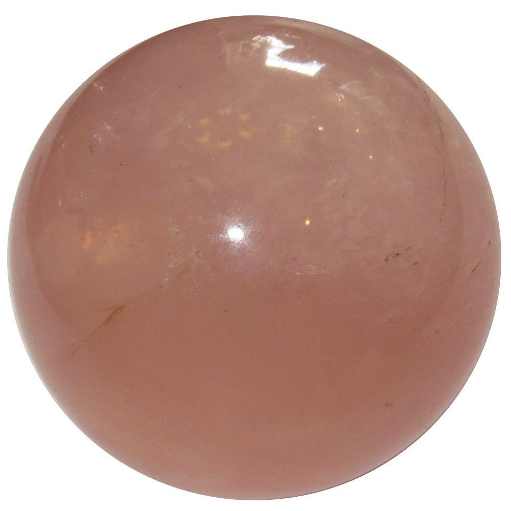 """Rose Quartz Ball 34 Clear Pink Opalescent Crystal Healing Sphere Love Energy Madagascar Stone 1.9"""""""