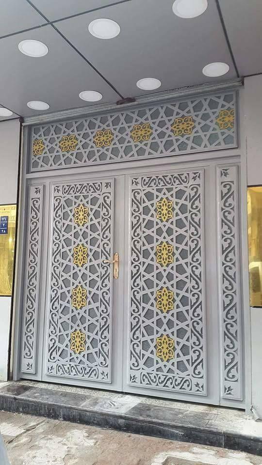 Door تنفيذ ابواب الحديد عادي زخرفه و ليزر الرياض 0530608113 Iron Door Design Wooden Door Design Room Partition Designs