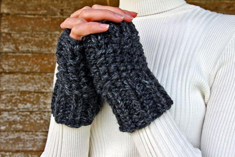 Determination Fingerless Gloves Knitting Pattern Diy Pinterest