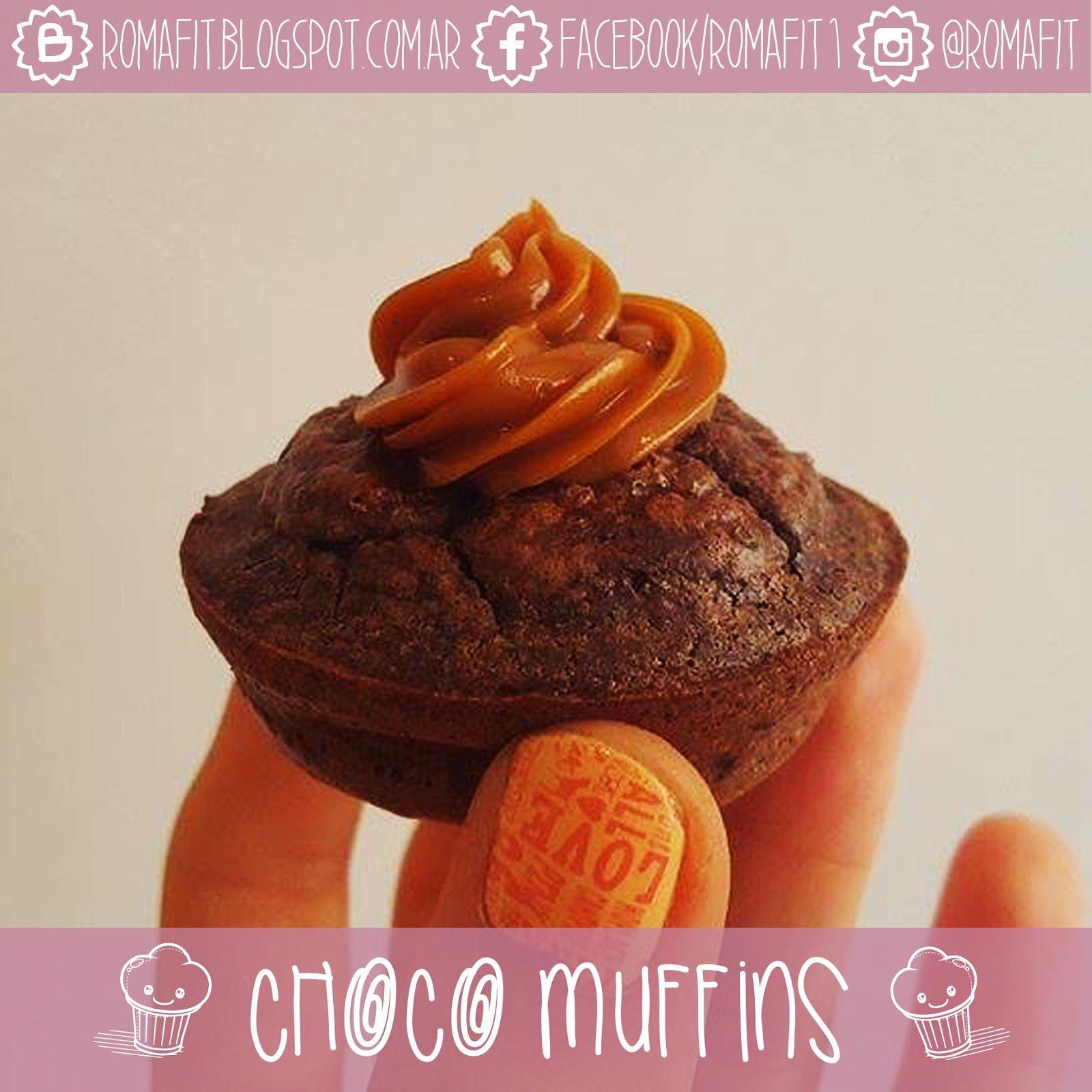 Recetas Fit Para Gente Común: Muffins fit de doble chocolate! Sin azúcar ni harinas refinadas ♥