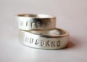I Think This Is Kinda Sweet It Could Easily Be Used As A Work Ring If You Re In A Manual Labor Job A Sterling Silver Wedding Band Silver Wedding Wedding Bands
