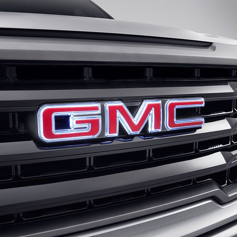 2020 Sierra 1500 Illuminated Gmc Emblem Red Gmc Logo Front