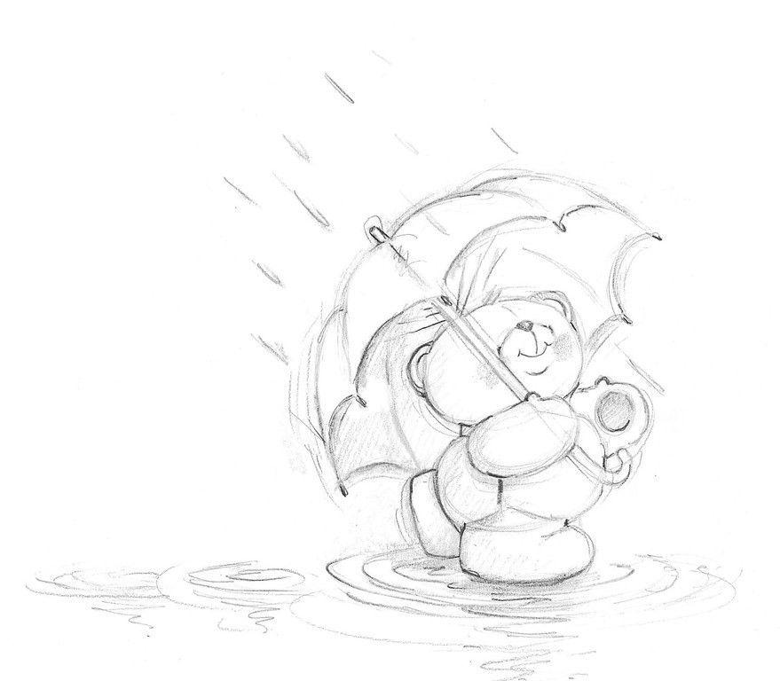 Forever friends | rysunki grafiki | Pinterest | Osos, Paraguas y Lluvia