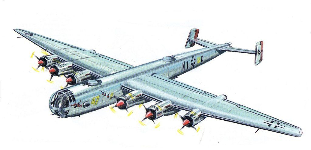 The Focke-Wulf Ta 400 was a large six-engined bomber ...