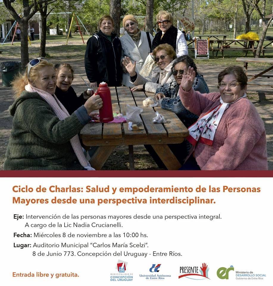 Argentina:Ciclo de charlas de salud y empoderamiento para personas mayores | Central Informativa del Adulto Mayor