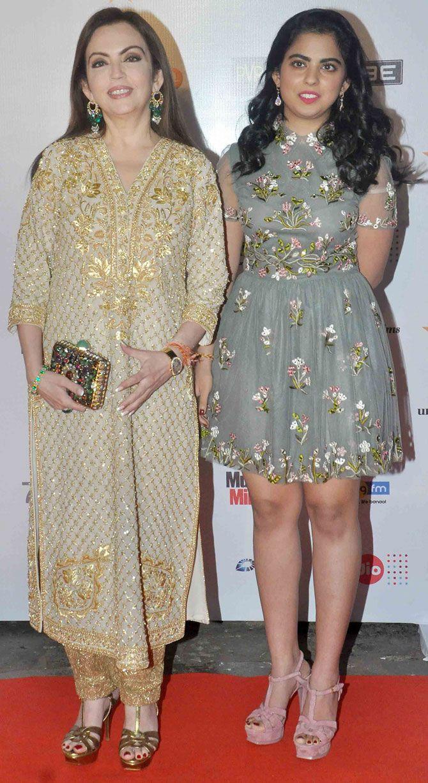 Nita Ambani with daughter Isha at the opening ceremony of