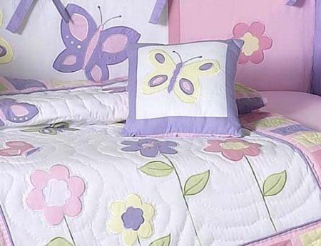 Amazon Com Pink And Purple Butterfly Collection Toddler Bedding 5