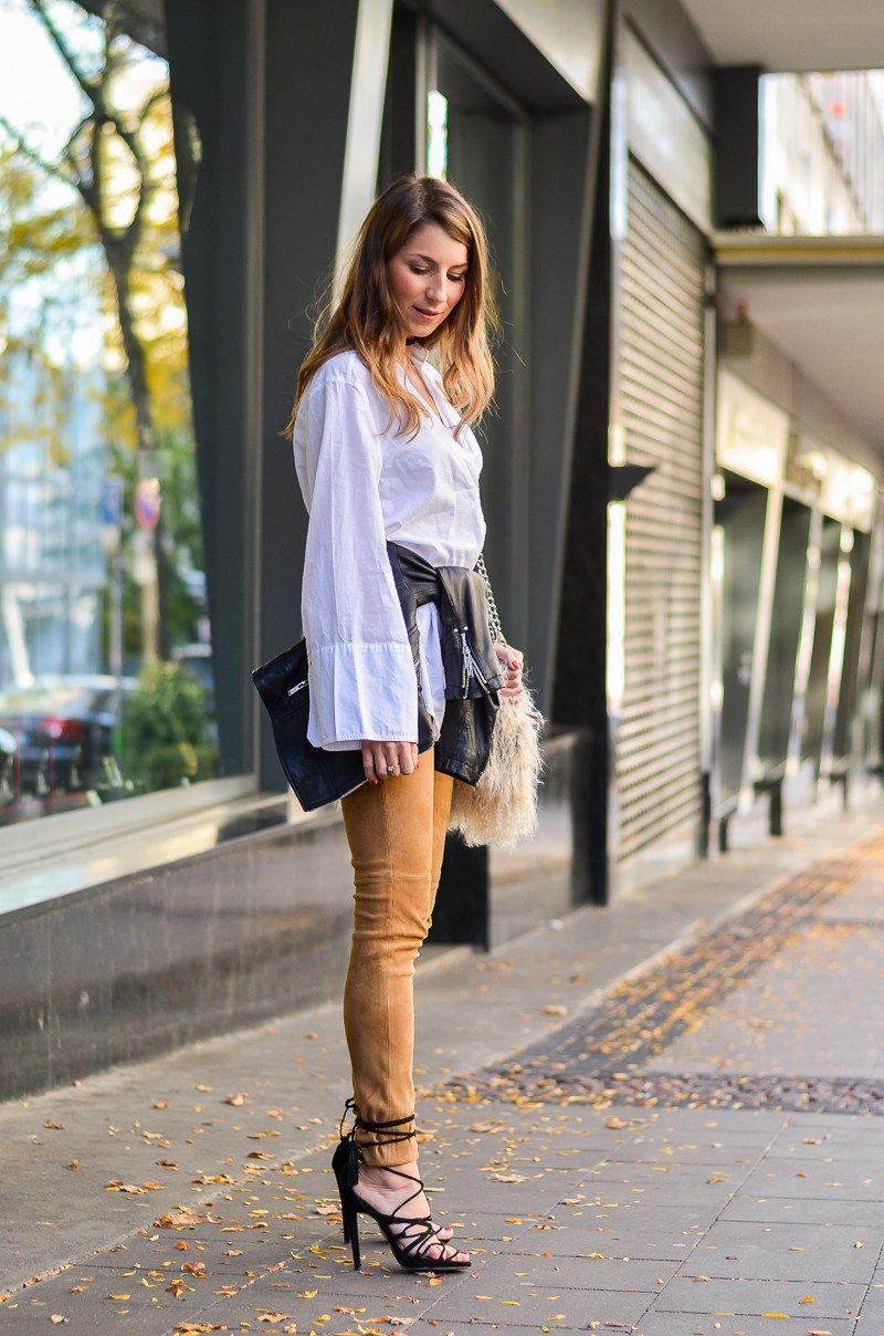 Langer Cardigan, Jeans & schwarze Overknees | Véjà Du