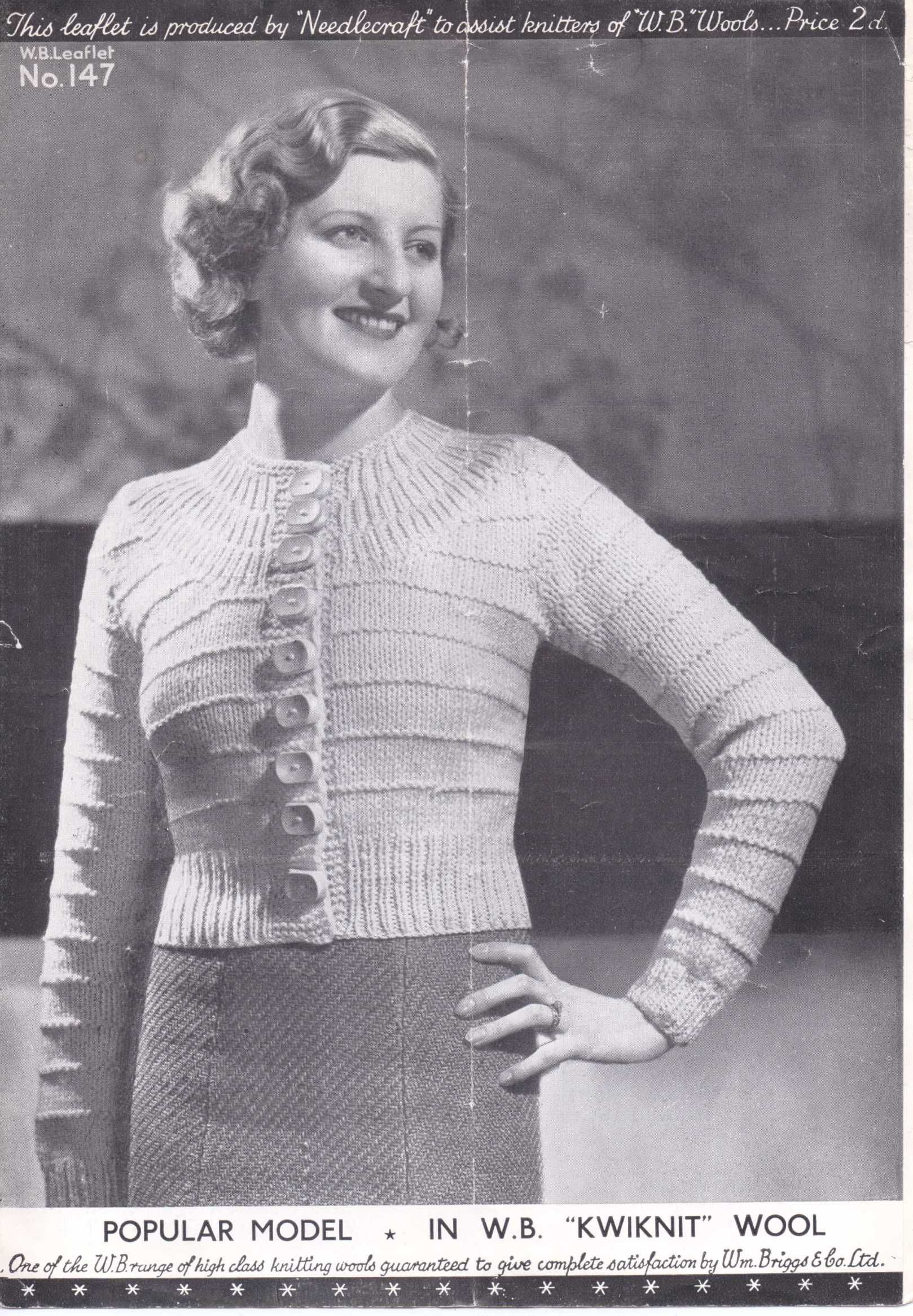 30s ladies yoke cardigan | knitted things i love | Pinterest ...