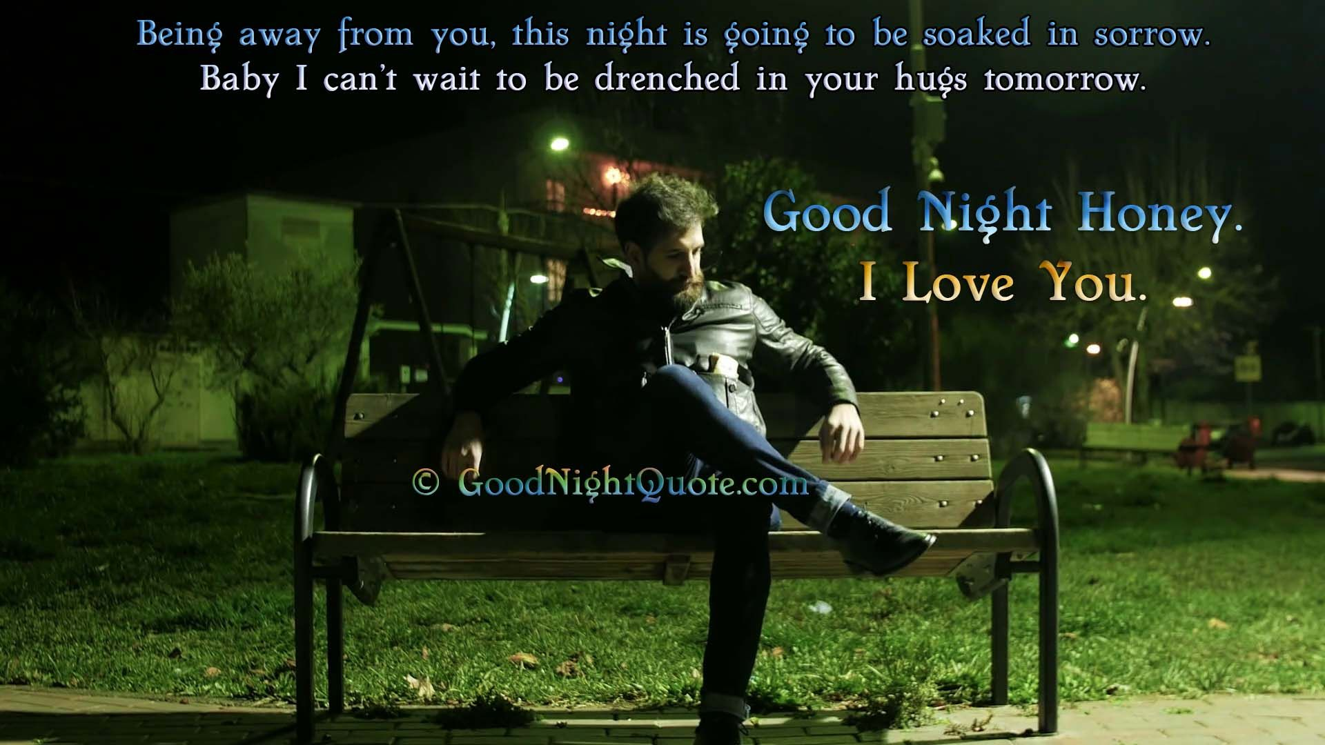 Best Good Night Quote For Wife Man Sitting Alone On The Bench