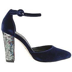 get to buy for sale cheap sale largest supplier Blue 'Milton' ladies velvet ankle strap sandals AUS3Ju6HR0