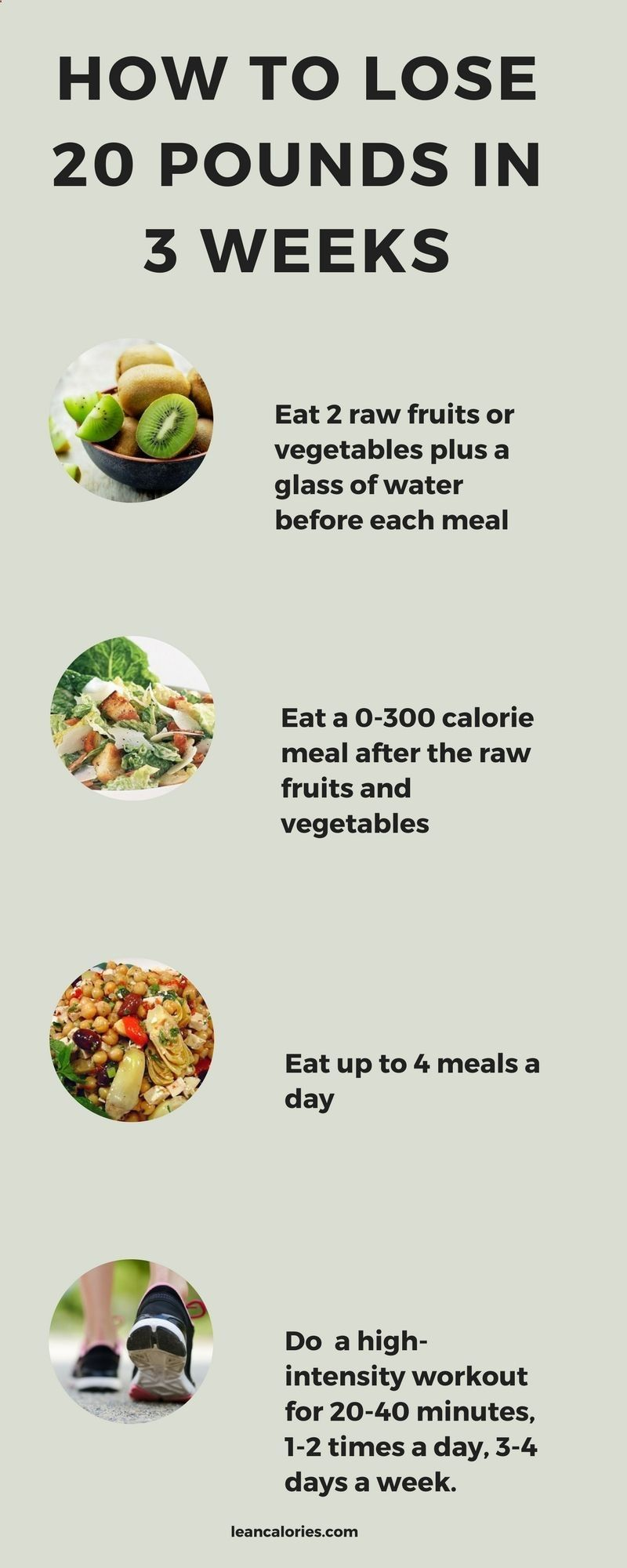 30 day diet to lose 20 pounds