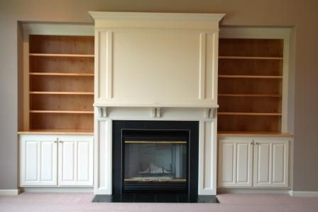 Built In Shelves Around Fireplace Need Built In Cabinets Around