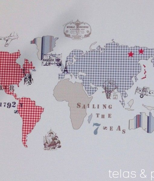 P 11258 papel pintado mapa mundi rs muebles for Papel pintado juvenil