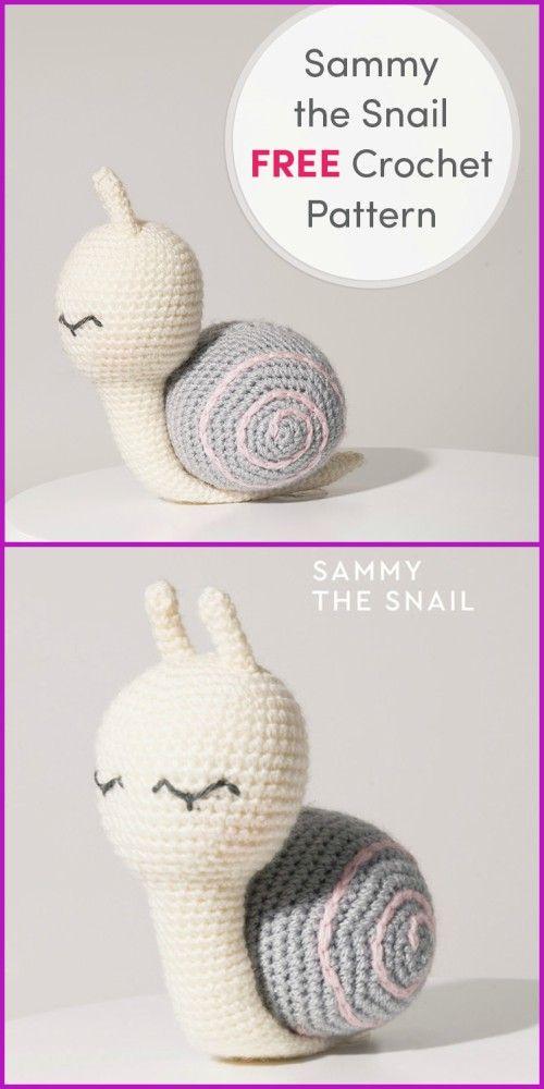 DIY Crochet Snail Amigurumi Free Patterns | AMIGURUMIS! | Pinterest ...