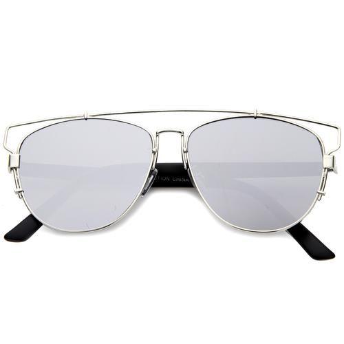 Vintage Steampunk Studio Cover Mirrored Lens Sunglasses