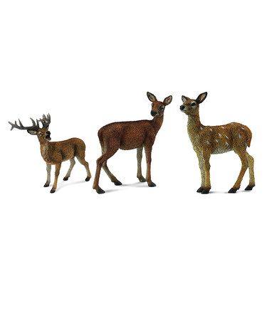 Woodlands Red Deer Stag Figurine Set by CollectA  #zulilyfinds