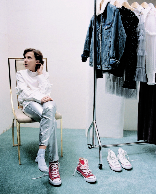 "Millie Bobby Brown for ""Forever Chuck"" by Converse "" in 2019"