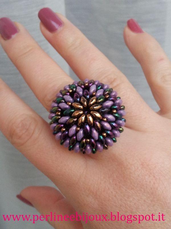 f264f12a445a Gioielli artigianali e tutorial Handmade jewelry and beading tutorials  Anillos Hechos A Mano