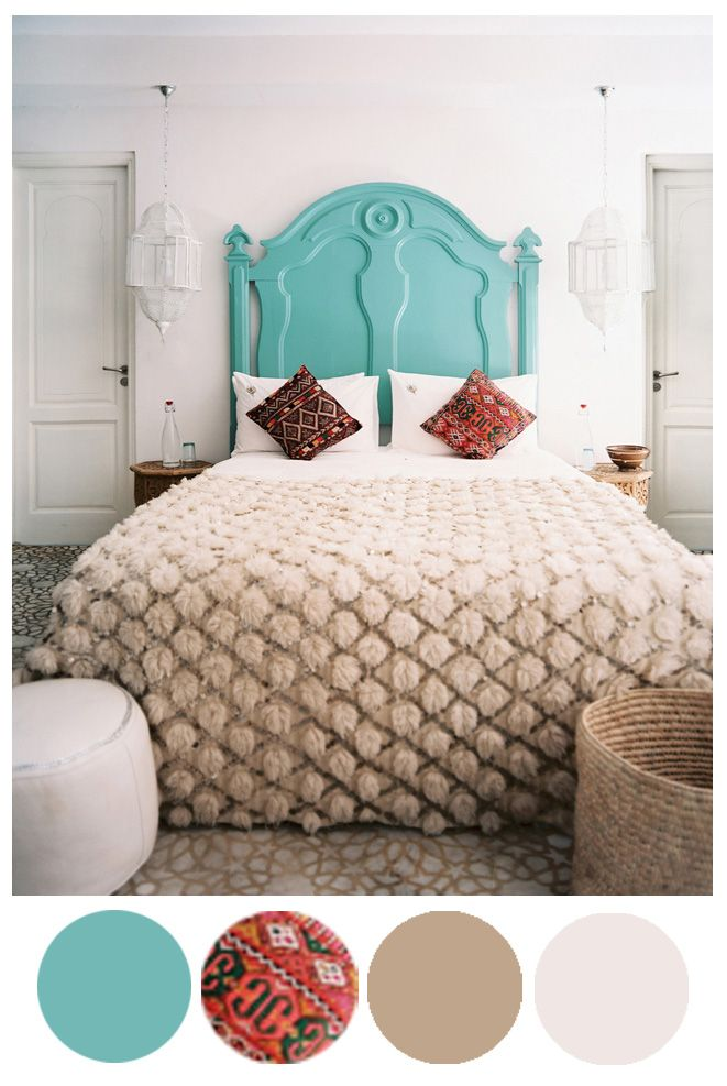 Cot In A Box Morocco Turquoise: Color Palette Inspo: Turquoise Moroccan
