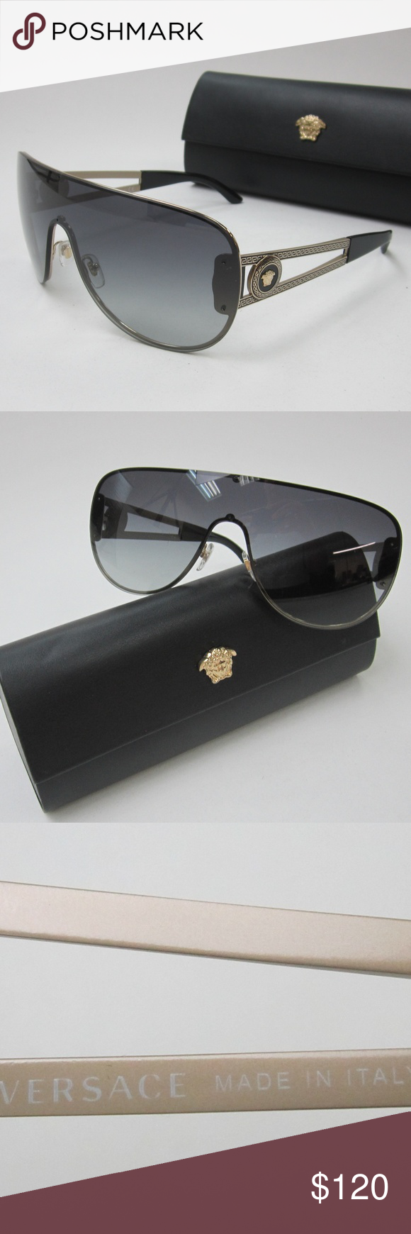 12162b18835 Versace 2166 1252 8G Men s Sunglasses Italy OLL836 Versace Medusa 2166 1252