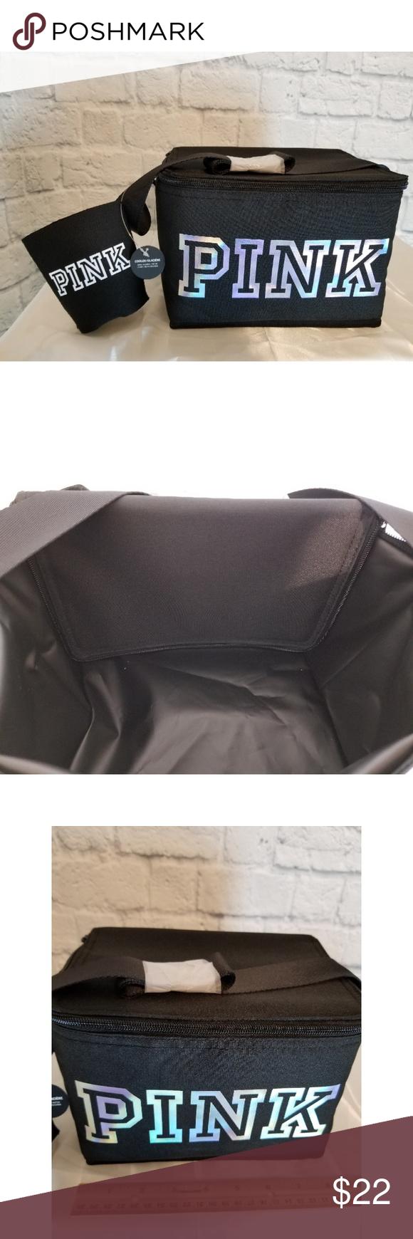 48f88b54b7500 Victoria's Secret PINK 2018 Black Logo Cooler Bag! A New Victoria ...
