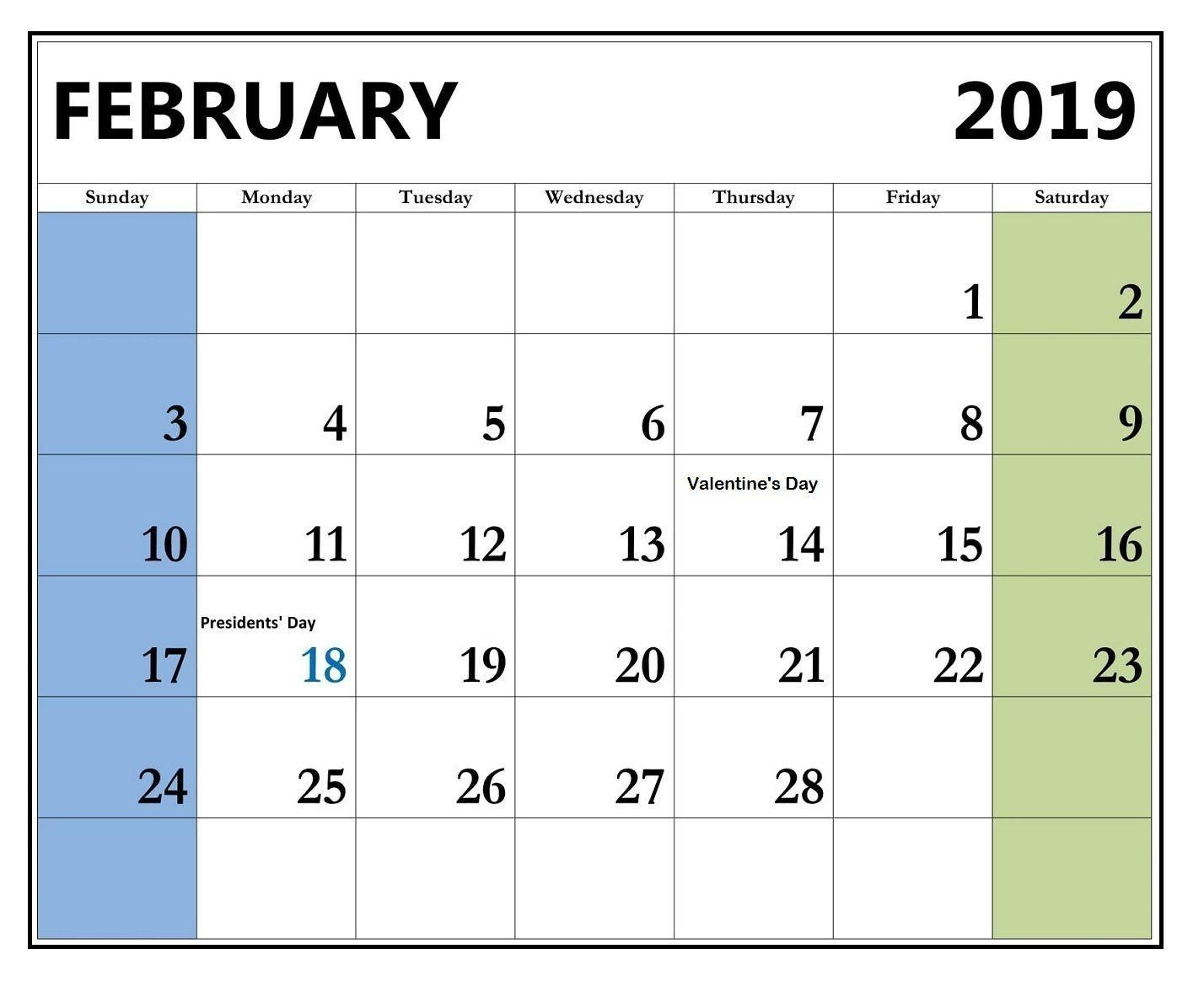 February 2019 Calendar Usa February 2019 Calendar with Holidays United States (USA