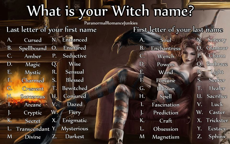 What's your Witch name? | my faves | Witch names, Witchy names