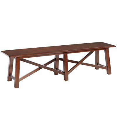 Torrance Mahogany Brown Dining Bench Bench, Room and Kitchens