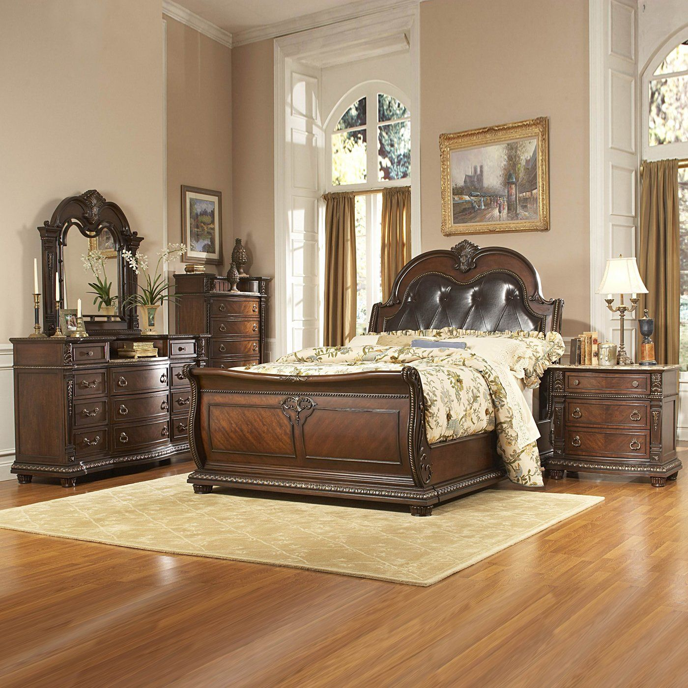 Best Homelegance Palace Bedroom Set Rich Brown Home 400 x 300