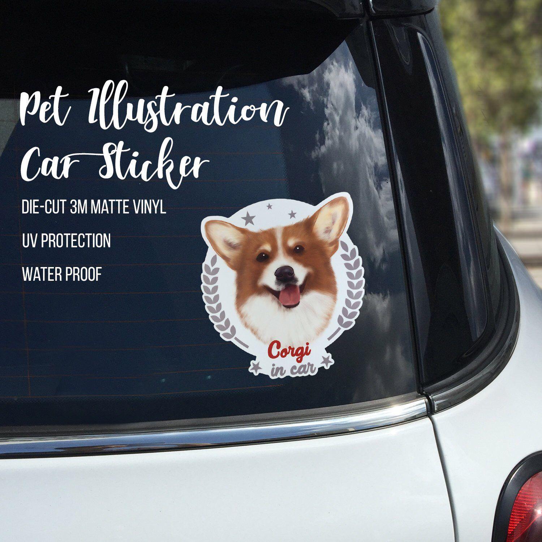 Corgi On Board Corgi Car Stickers Corgi Vinyl Window Decal Pet Decal Animal Decal Bumper Stickers Dog Decal Pet Stickers Corgi Dog Stickers Car Stickers Corgi [ 1500 x 1500 Pixel ]