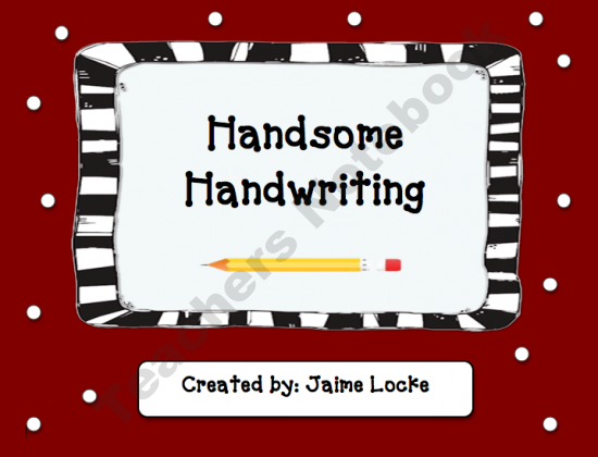 Handwriting Helperq product from The-Primary-Spot on TeachersNotebook.com