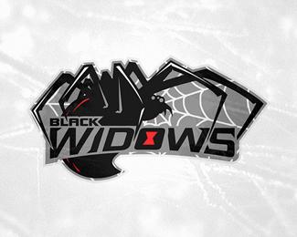 Black Widows Sports Graphic Design Sports Logo Design Graphic Design Images