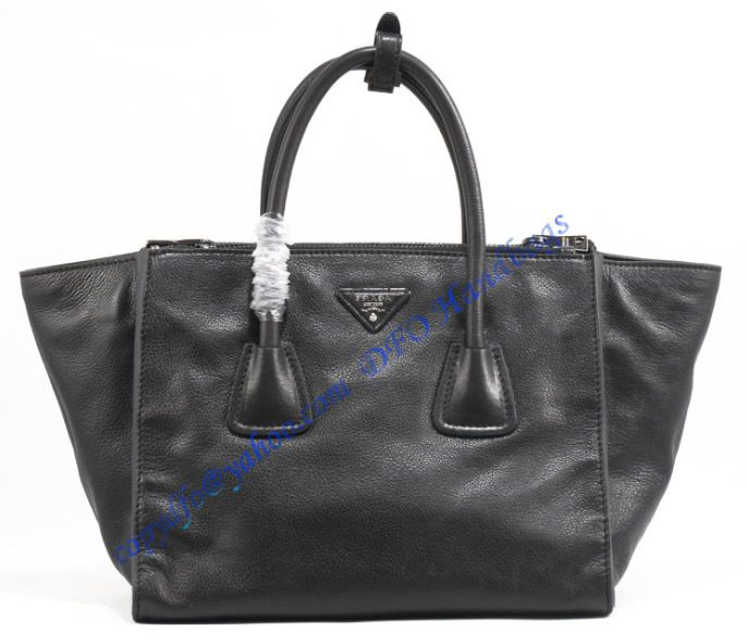 15a25a0849 Prada Saffiano Double-Zip Tote P2619 black sale at USD398.00 - Free  Worldwide