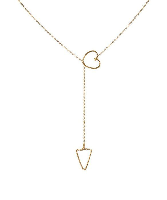 byPhilippe Tiny Lariat Arrow Through Heart Necklace
