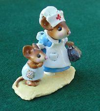 Wee Floresta Folk Tsunami Remembrance ltd-9 hortelã! aposentado Estatueta Do Mouse