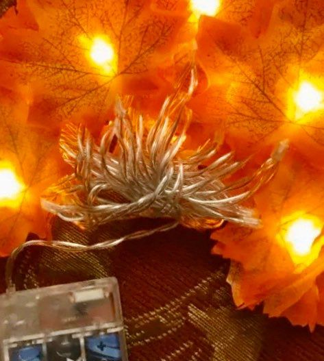 Autumn Garland Fall Garland Fall Maple Leaf Garland Maple Leaves Fall Lights Maple Leaf Lighted Fall leaf garland battery operated fairy #leafgarland