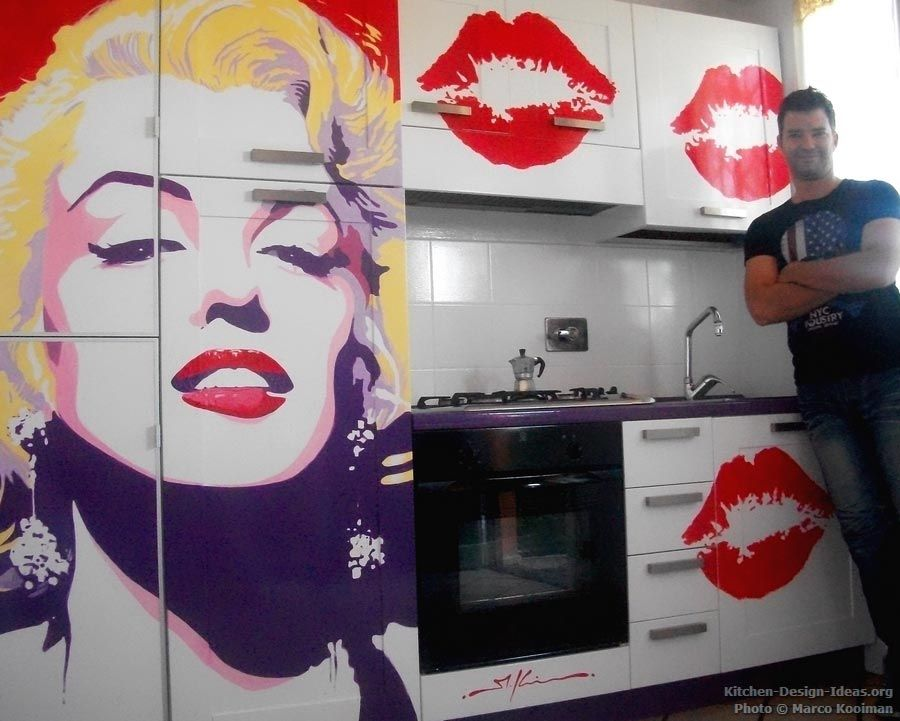 Popart Room Decor | End Result: Marilyn Monroe Pop Art Kitchen Mural