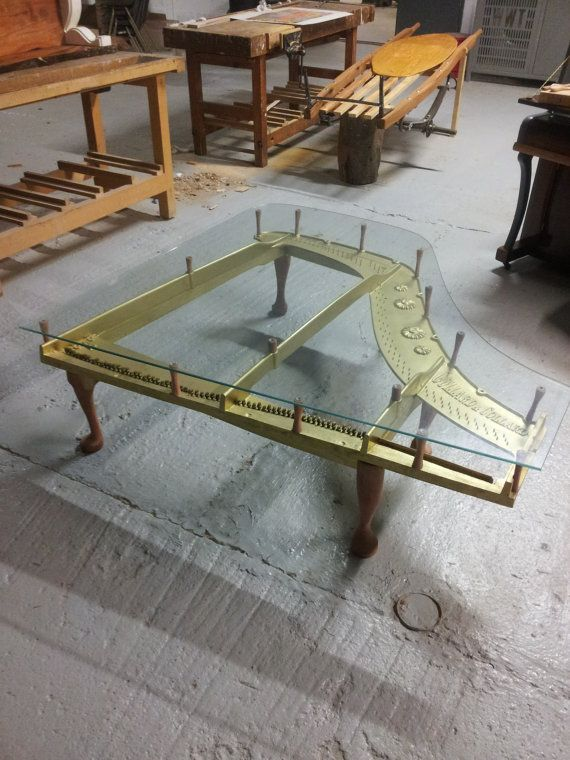 Baby Grand Piano Coffee Table Buy From Etsy Here   #mancave #upcycled  #repurposed