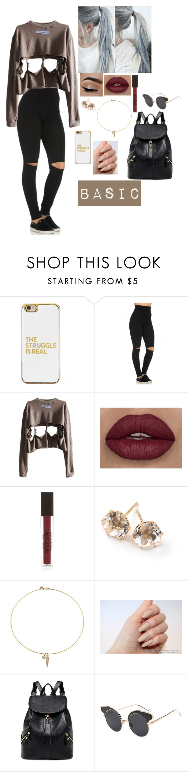 """""""Untitled #707"""" by jaritza-hemmings ❤ liked on Polyvore featuring BaubleBar, New Look, Ippolita and Rebecca Minkoff"""